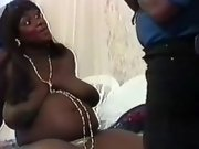 Pregnant ebony seduces black man